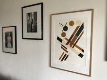 Load image into Gallery viewer, Alewijn Don Drawings, Revolving Earth, earthy acrylics on cotton paper