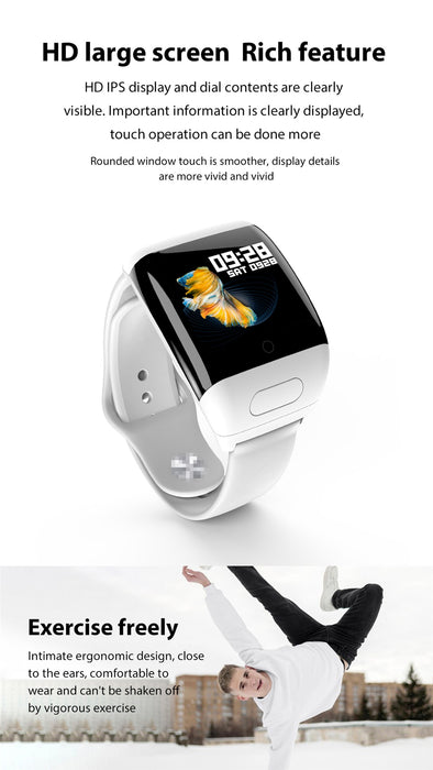 VPW™ Sport-Watch Earphone and Smart-Wristband