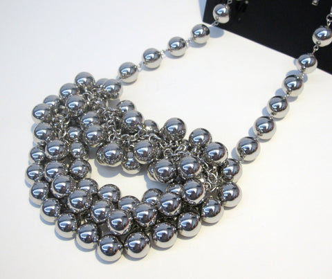 H&M Silver Balls Necklace