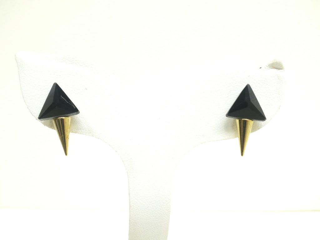 Triangle and Spikes Stud Earrings