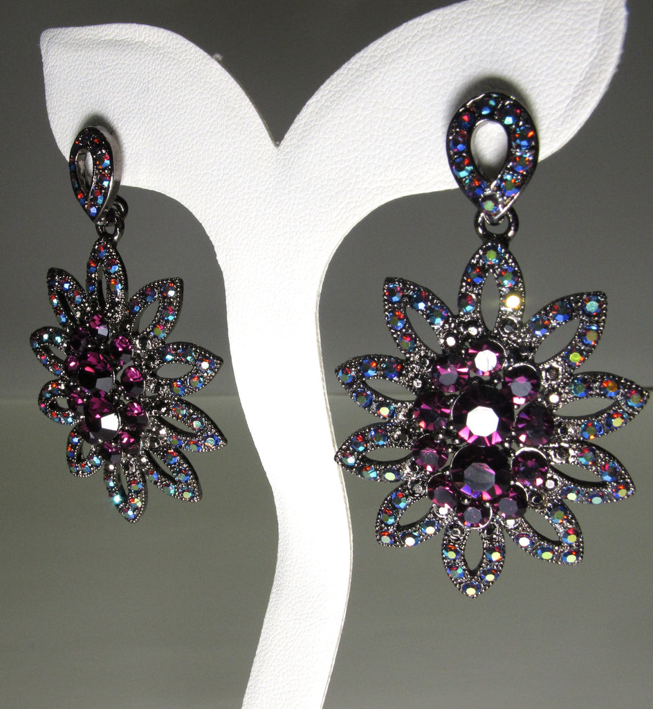 Sienna Amethyst Flower Earrings