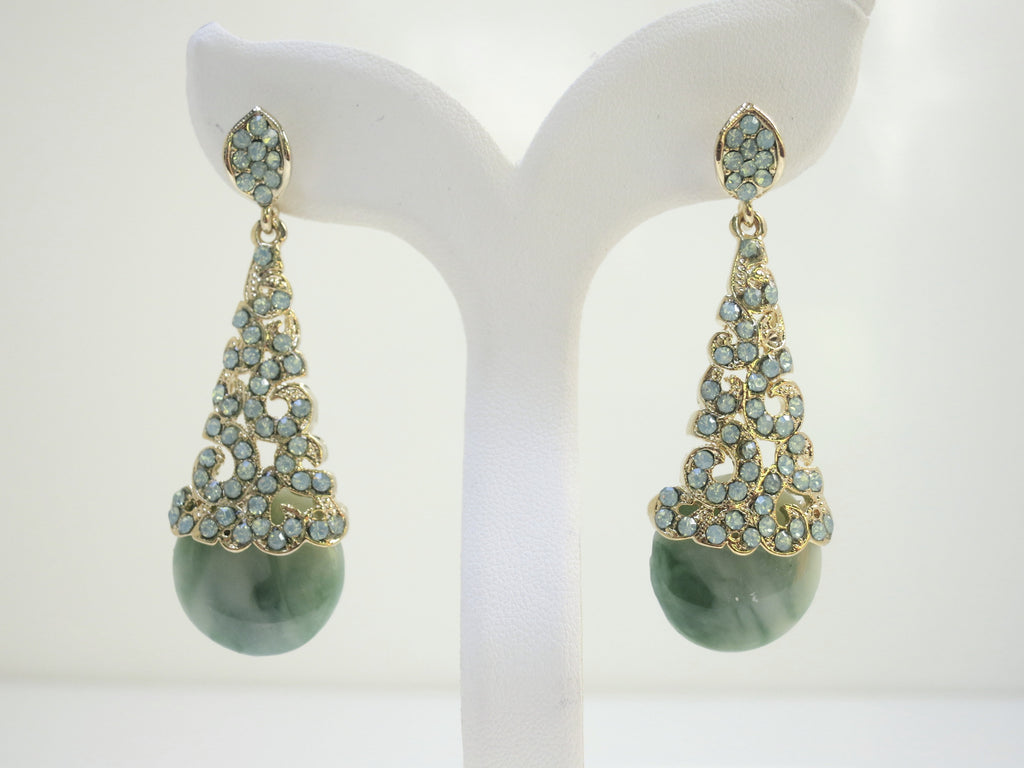 Chrysolite Swarovski Cone Earrings
