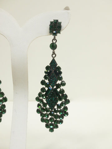 Absinthe Swarovski Earrings