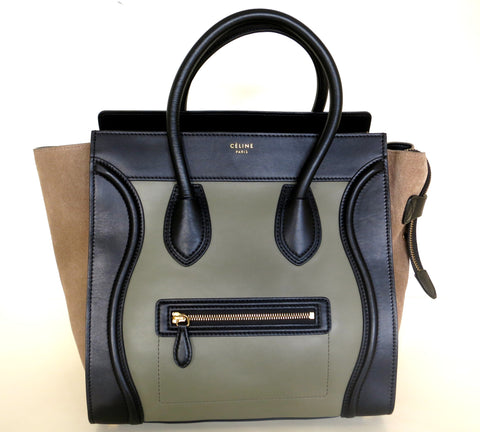 Celine Mini Luggage Almond Tricolor