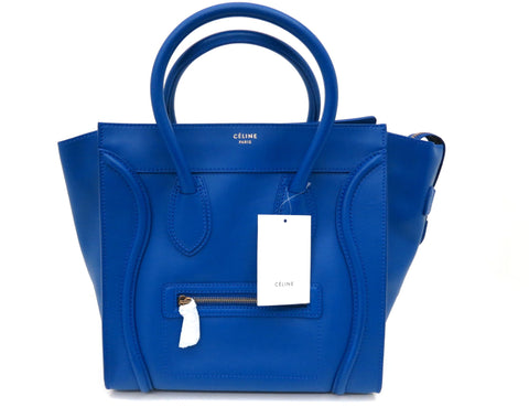 Celine Mini Luggage Cobalt Blue