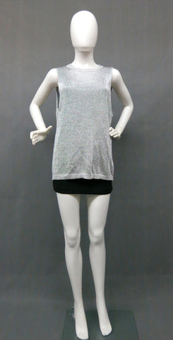 H&M Metallic Mesh Long Top