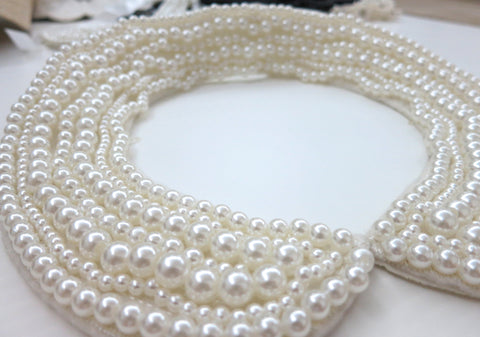 White Beaded Collar