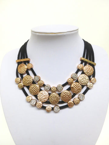 Soft Leather Bib Necklace