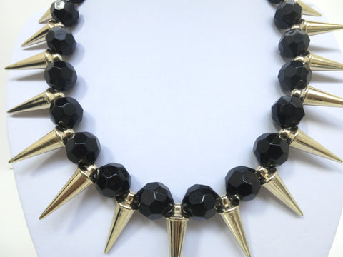 Beads and Spikes Necklace