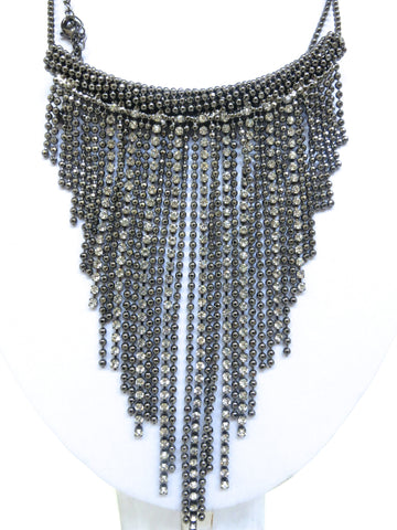 Long Low Fringe Necklace