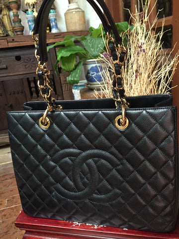 Chanel GST Black Gold Chain