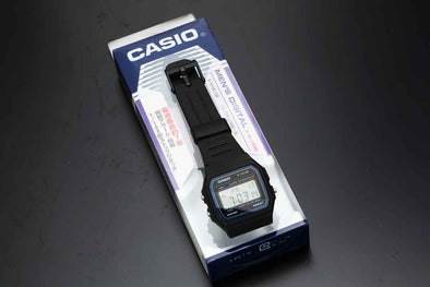 "Casio F-91W ""Che-Casi"", (short for Cheap Casio) in Japan."