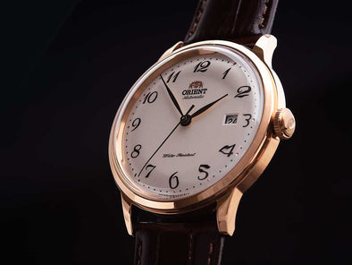 ORIENT Automatic Classic Watch (Rose Gold)  Made in Japan/ RA-AC0001S - seiyajapan.com