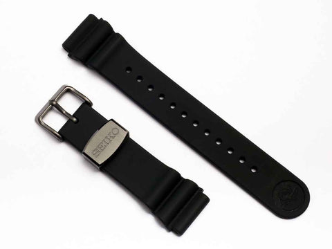 "SEIKO Parts Silicon Strap 22mm ""Titanium Gray Metal""  R01X011N9 - seiyajapan.com - 1"