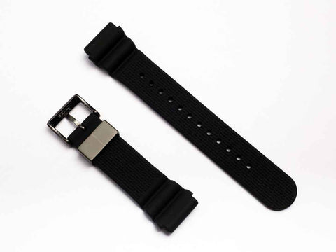 "SEIKO Parts Silicon Strap 22mm ""Titanium Gray Metal""  R01X011N9 - seiyajapan.com - 3"