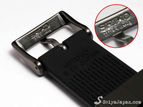 "SEIKO Parts Silicon Strap 22mm ""Titanium Gray Metal""  R01X011N9 - seiyajapan.com - 4"