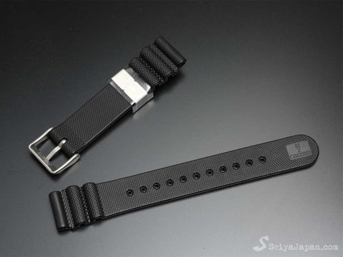 "SEIKO 20mm Genuine Rubber Strap ""Metal holder""/ R02X011J0 - seiyajapan.com - 1"