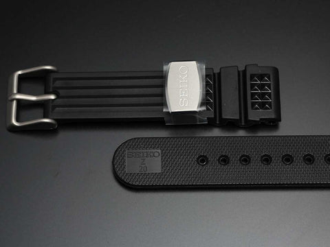 "SEIKO 20mm Genuine Rubber Strap ""Metal holder""/ R02X011J0 - seiyajapan.com - 3"
