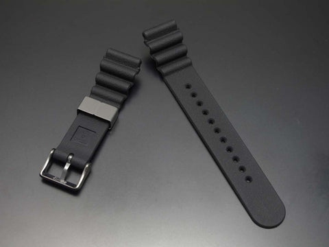 "SEIKO 22mm Genuine Rubber Strap ""Gray Color Metal"" / DFL3EB - seiyajapan.com - 3"