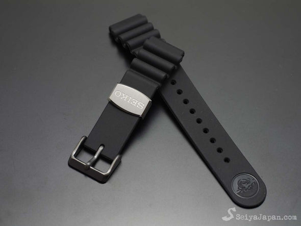 "SEIKO 22mm Genuine Rubber Strap ""Gray Color Metal"" / DFL3EB - seiyajapan.com"