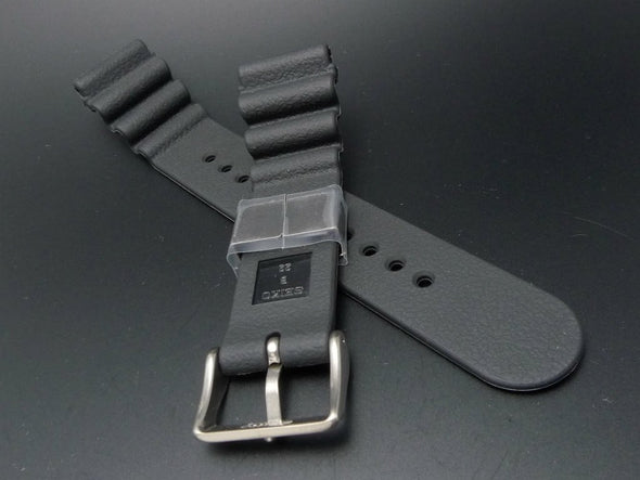 "SEIKO 22mm Genuine Rubber Strap ""Silver Color Metal"" /DA0C1DR - seiyajapan.com"