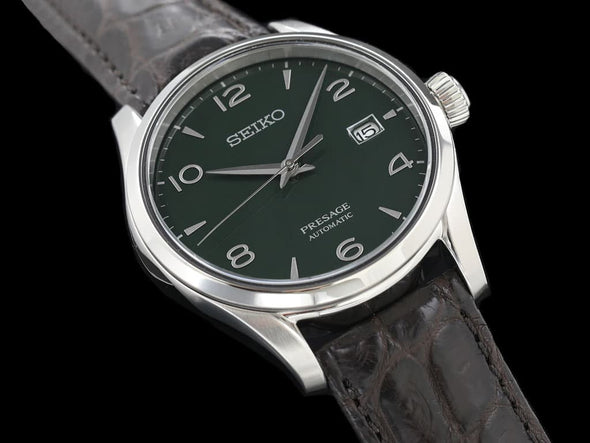 "SEIKO AUTOMATIC PRESAGE SARX063 ""GREEN ENAMELED DIAL"" Limited Edition Made in Japan - seiyajapan.com"
