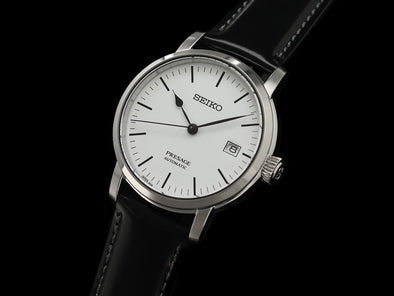 "SEIKO AUTOMATIC PRESAGE SARX065 ""WHITE ENAMELED DIAL""  Made in Japan - seiyajapan.com"