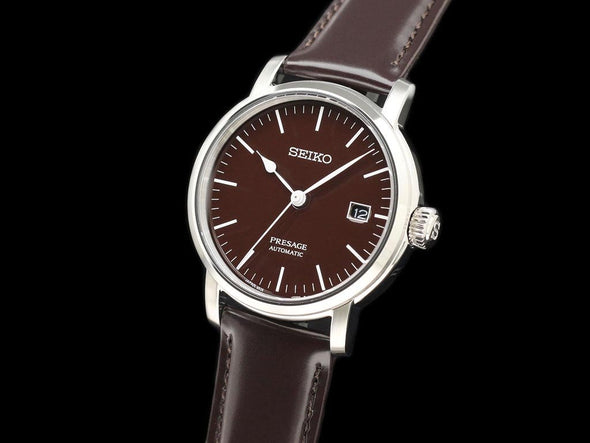 "SEIKO AUTOMATIC PRESAGE SARX067 ""BROWN ENAMELED DIAL""  Made in Japan - seiyajapan.com"