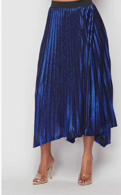 Bella Blue Shimmery Handkerchief Skirt