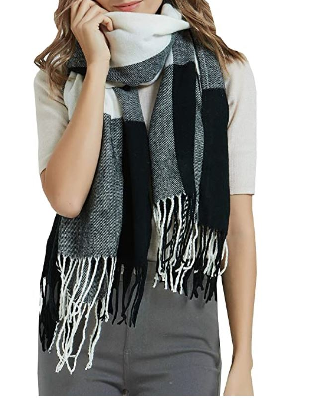 Black And Silver Scarf Shawl