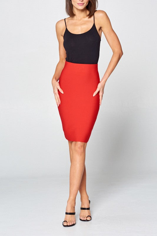 Hot Mama Bodycon Pencil Skirt