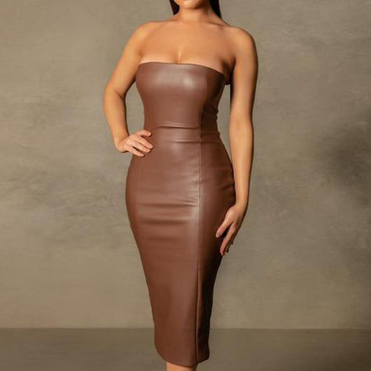 Simplicity Is Key Strapless Dress