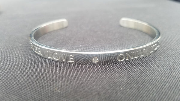 Forever Love Engraved Stainless Steel Cuff
