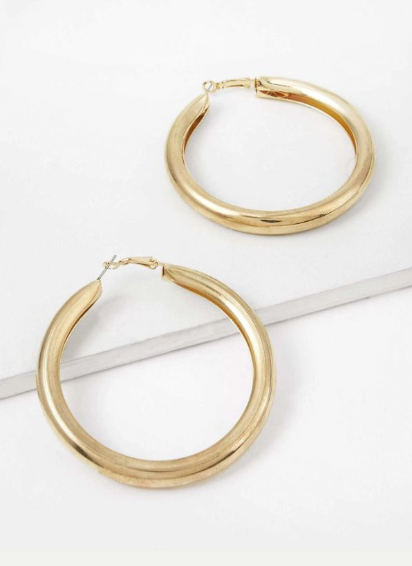 Open Metal Hoop Earrings