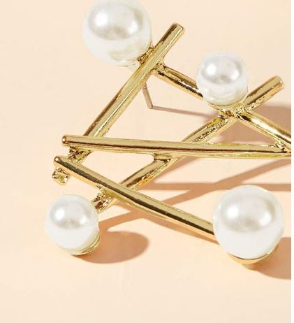 Pearl Multi-Bar Earrings