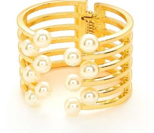 Gold and Pearl Cuff
