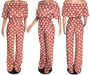 Anna Off Shoulder Polka Dot 2pc Set