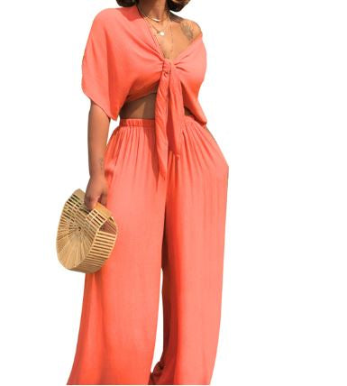 Aliyah Off Shoulder 2pc Top and Pant Set