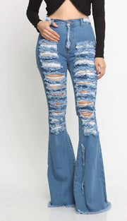 Bottom Distressed Jeans