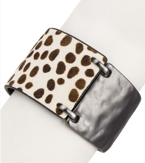 Cayla Gunmetal and Print Cuff