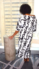 Graffiti Maxi Dress