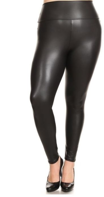 Curvy Girl Faux Leather Leggings
