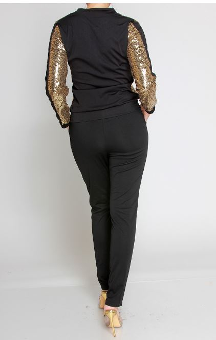 Curvy Girl 2pc Sequin Jogger Set
