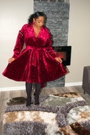 Karamu Wine Coat Dress, Now $66