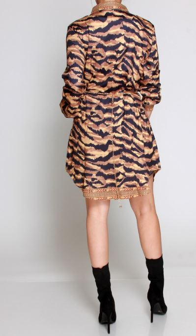 Mixed Animal Print Tunic Dress