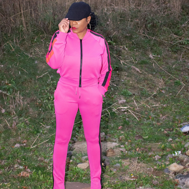 Annie Goes Pink Jogger Set