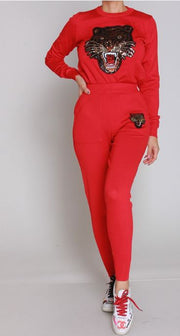 Lady Tiger Red 2pc Set