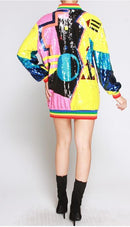 Sequin Geo Dress/Jacket