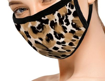 Adult Leopard Print Face Masks