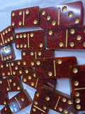 Ruby Red Glitter Dominos 🔴(4-6 week delivery time)